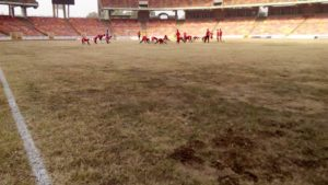 The state of the Abuja National Stadium was terribly bad.