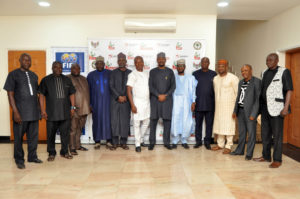 NNL leadership at the LMC  Corporate office in Abuja