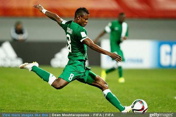 Kingsley Sokari on duty with National U20 team, Flying Eagles