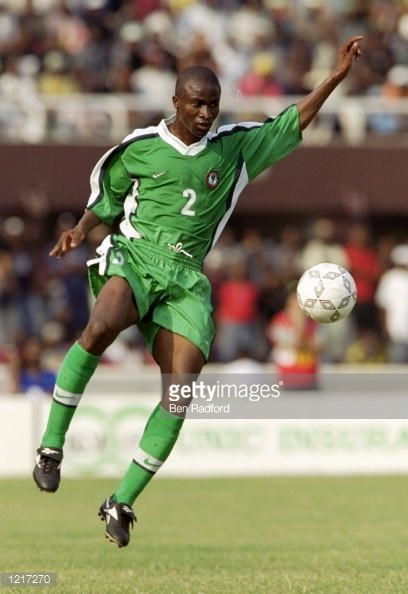 Okunnowo in Eagles shirt at the Afcon 2000