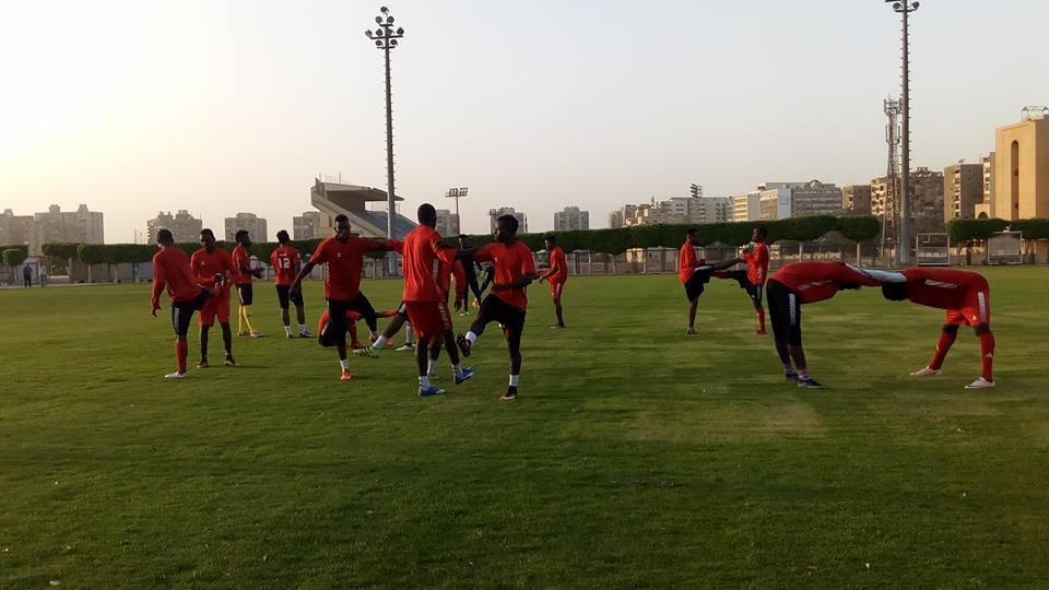 Rangers International of Enugu training in Cairo ahead of game vs Zamalek