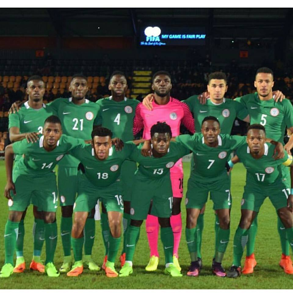 Super Eagles line against Senegal in London