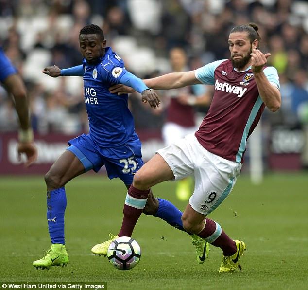 Ndidi in action versus West Ham