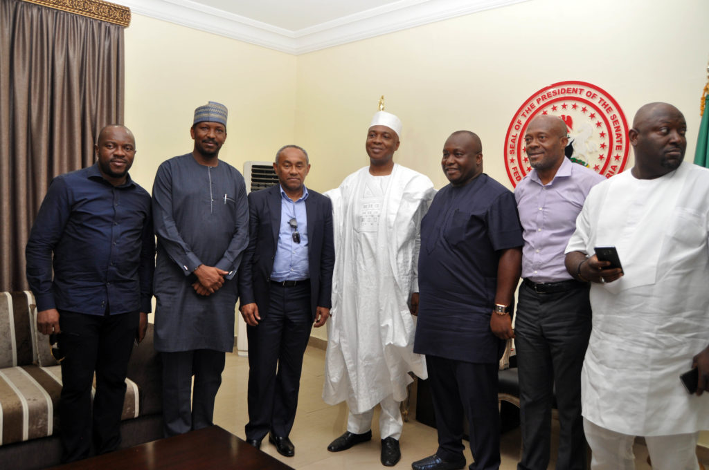 Ahmad also met with the Senate President of Nigeria, Senator Bukola Saraki.