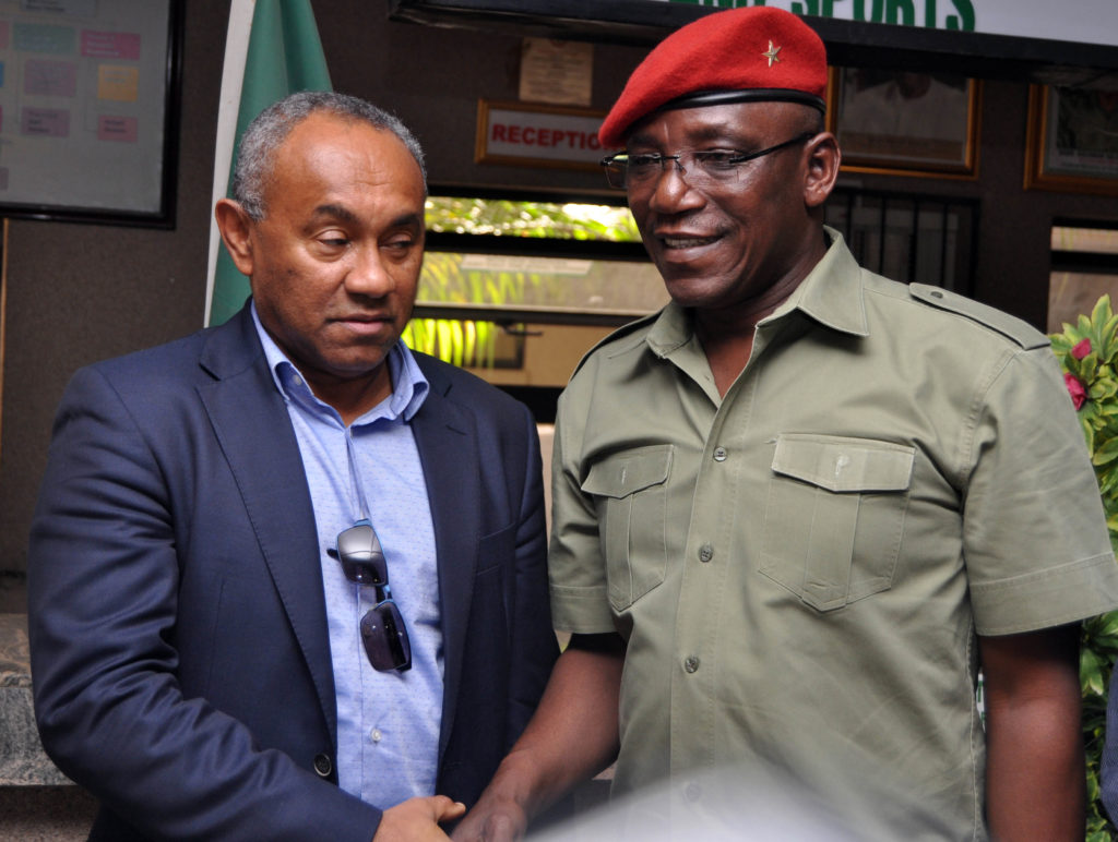 Ahmad met with Nigeria's Minister of Sports, Solomon Dalung on Thursday in Abuja