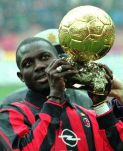 1995 World Player of the year, George Oppong Weah is now the current President of the Republic of Liberia