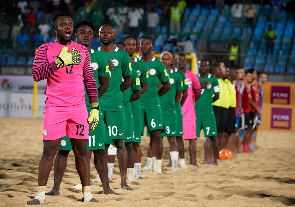 Nigeria's Super Sand Eagles were runners-up  at the 2016 CAF Beach Soccer AFCON hosted in Lagos, Nigeria