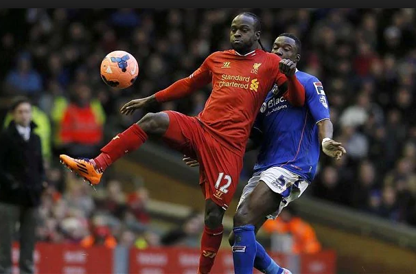 Moses had a loan spell at Liverpool