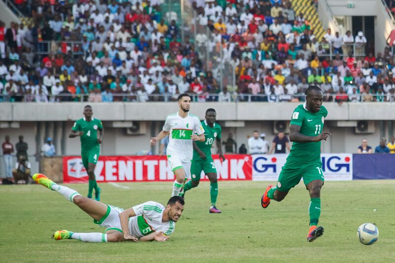 Victor Moses scored a brace for the Super Eagles against Algeria in last month's World Cup qualifier