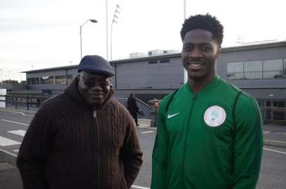 Ola Aina and his dad
