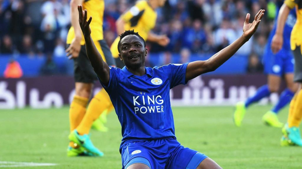 Musa in the colours of Leicester City
