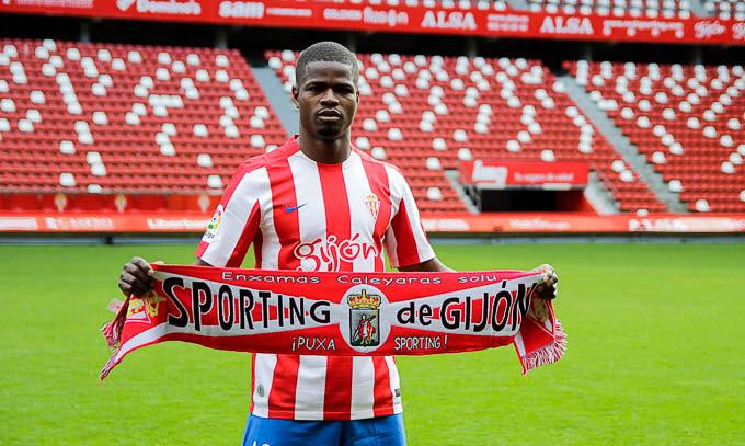 Echiejile signed for La Liga  side Sporting Gijon in the January transfer window