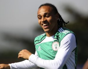 Nigeria's Peter Odemwingie smiles during a training session in Richards Bay, June 8, 2010. The 2010 FIFA Soccer World Cup kicks off on June 11. REUTERS/Rogan Ward (SOUTH AFRICA - Tags: SPORT SOCCER WORLD CUP)