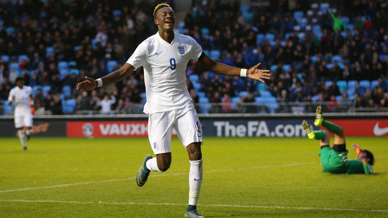 Tammy Abraham featured for England's U19