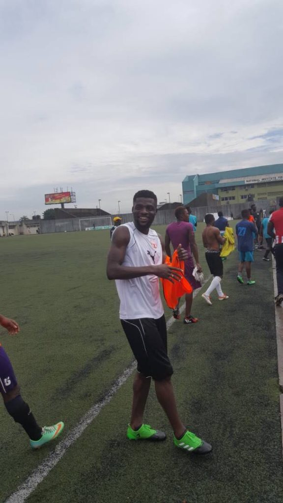 Ogu keeping fit ahead of Nigeria vs South Africa