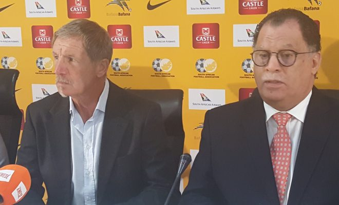Stuart Baxter was unveiled as Bafana Bafana on Monday by South Africa Football Association chief Danny Jordaan