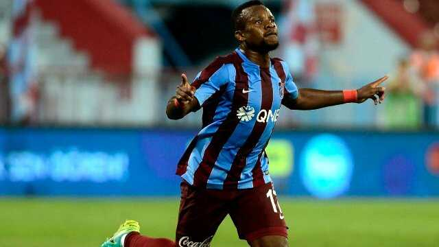 Onazi in the colours of Trabzonspor. He is wanted in Spain and Italy