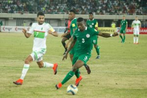 Echiejile in action vs Algeria