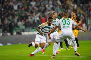 Mikel Agu in action for Bursaspor