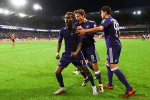 Henry Onyekuru celebrates his match winner against Standard Liege