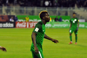 Onyekuru in action for the Super Eagles last November