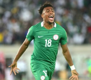 during the 2018 FIFA World Cup Qualifier match between Nigeria vs Zambia on October 7th 2017 at Godswill Akpabio Stadium ©Kabiru Abubakar/fotodezamora