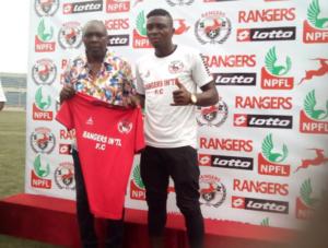 Godwin Zaki and Rangers GM, Davidson Owumi