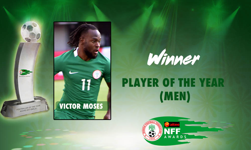 FIFA Congratulates Moses On Aiteo/NFF Player of the Year Award Feat