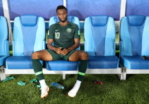 KALININGRAD, RUSSIA - JUNE 16: John Obi Mikel of Nigeria look on dejected following the 2018 FIFA World Cup Russia group D match between Croatia and Nigeria at Kaliningrad Stadium on June 16, 2018 in Kaliningrad, Russia. (Photo by Patrick Smith - FIFA/FIFA via Getty Images)