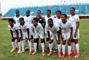 Super Falcons vs The Gambia today in Bakau, Banjul