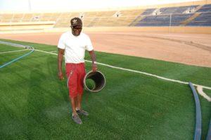 Ebi Egbe at the newly launched Enyimba FC International Stadium