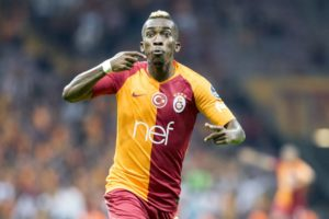 ISTANBUL, TURKEY - AUGUST 19 : Henry Onyekuru of Galatasaray celebrates after scoring a goal during a Turkish Super Lig soccer match between Galatasaray and Goztepe at Turk Telekom Stadium in Istanbul, Turkey on August 19, 2018.  (Photo by Orhan Akkanat/Anadolu Agency/Getty Images)
