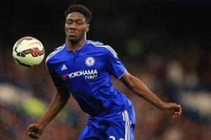 Ola Aina in the colours of Chelsea